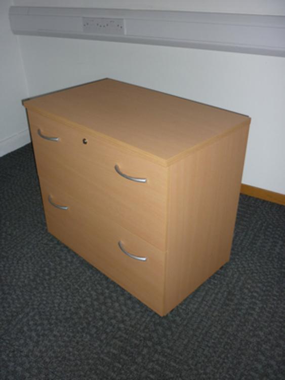 Buronomic beech 2 drawer side filer