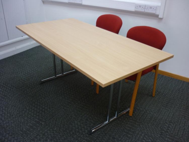 Beech 1600 x 800 folding leg tables CE