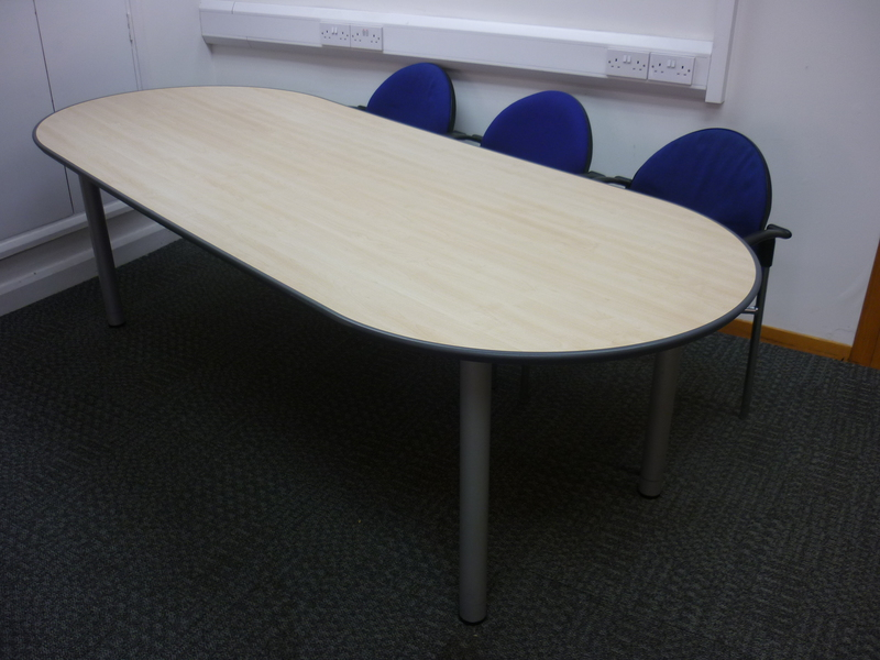 Maple D end meeting table