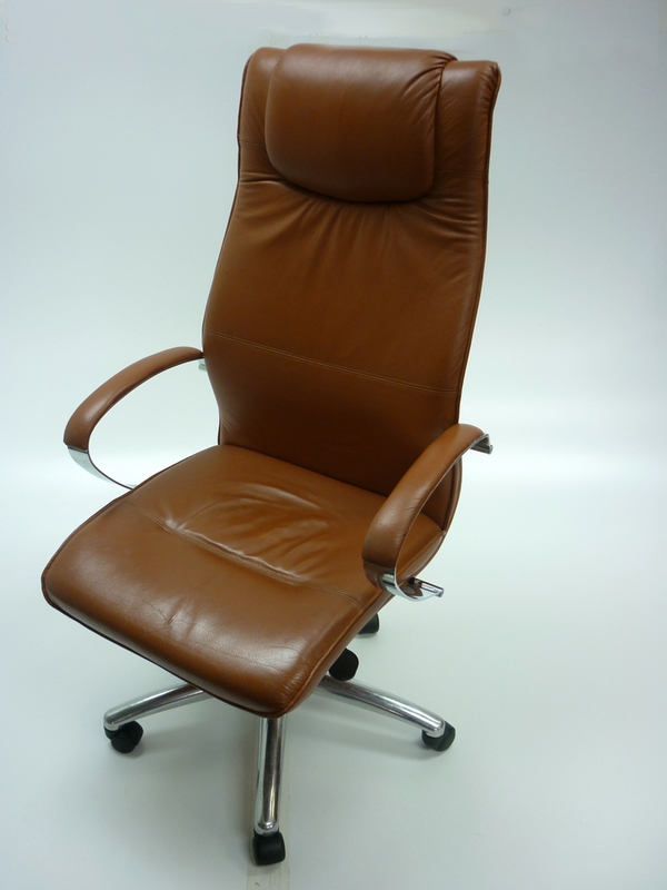 Brown high back executive chair (CE)