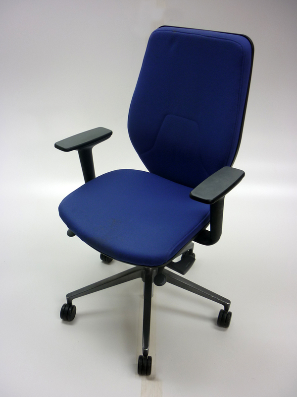 Light blue Orangebox Joy highback task chairs