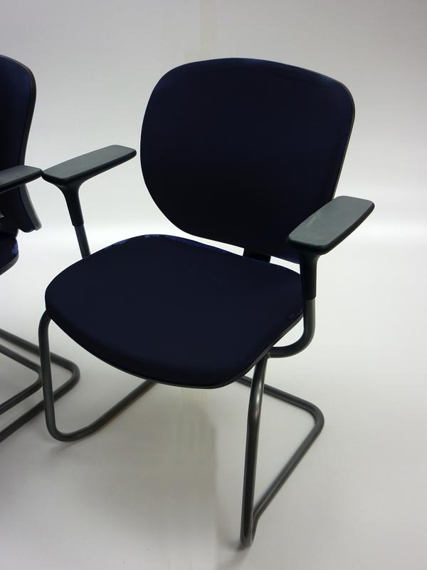 Black Orangebox Joy stacking meeting chairs