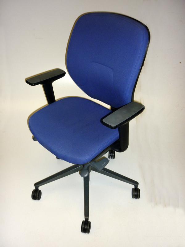 Light blue Orangebox Joy midback task chairs