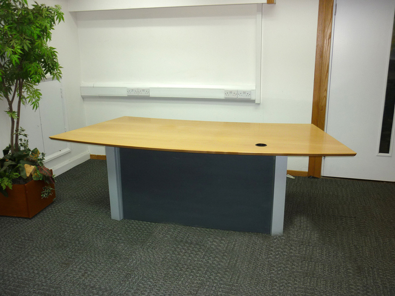 Beech veneer reception desk