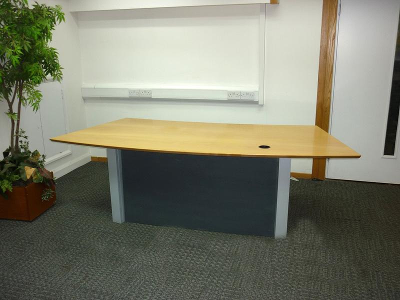 Beech veneer reception desk