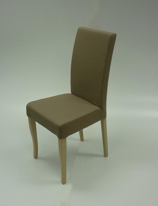 Mushroom fabric dining/meeting chair,