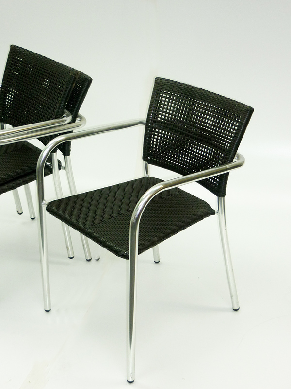 Rattan brown cafe chair