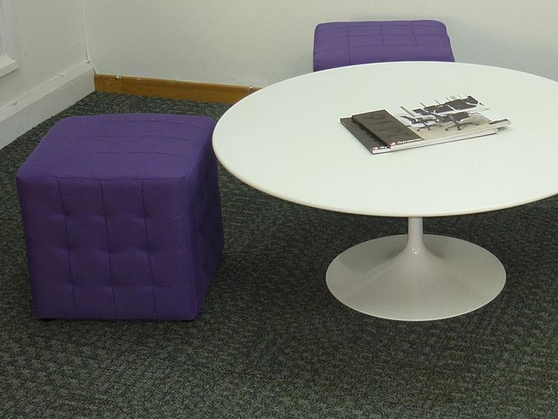 Purple fabric cube