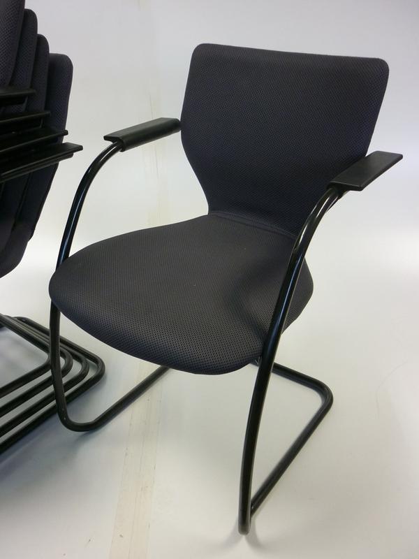 Grey Orangebox X10 stackable meeting chairs