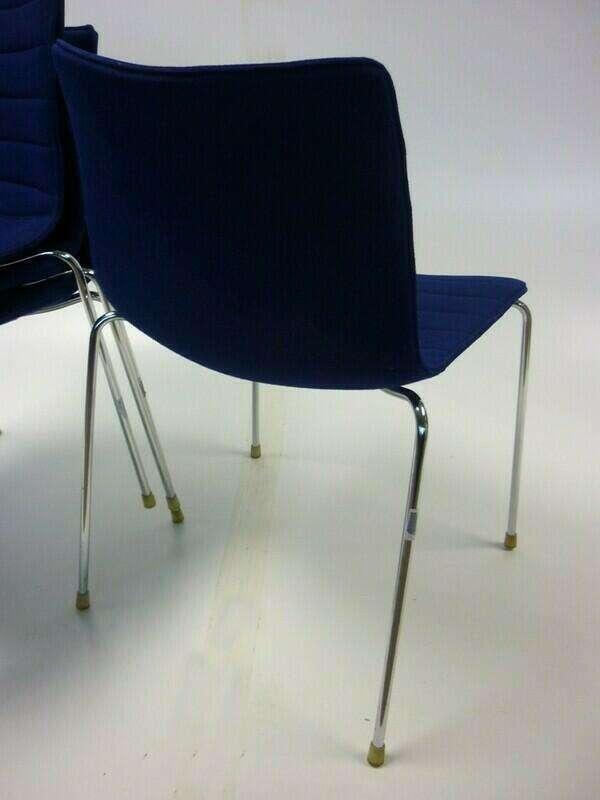 Arper Catifa 46 blue stacking meeting chair