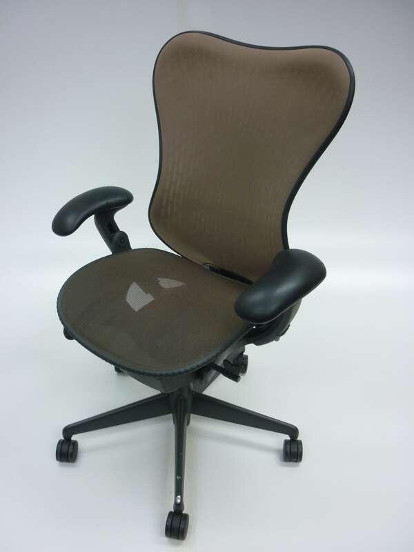 Herman Miller brown Mirra task chair