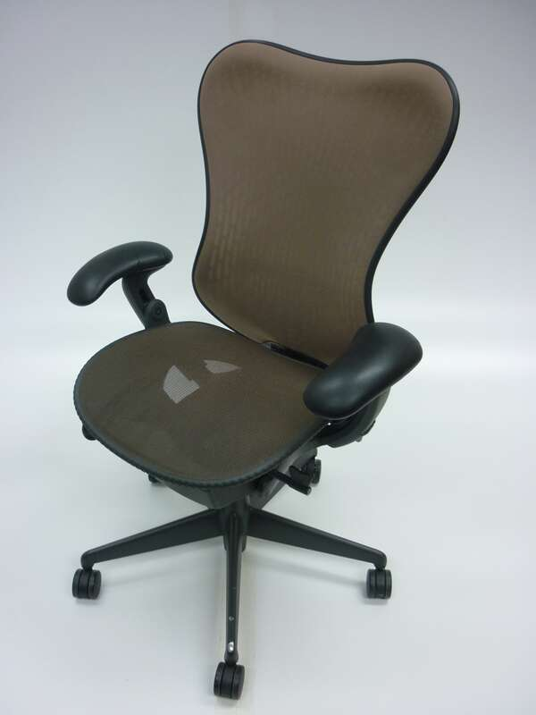 Herman Miller brown Mirra task chair