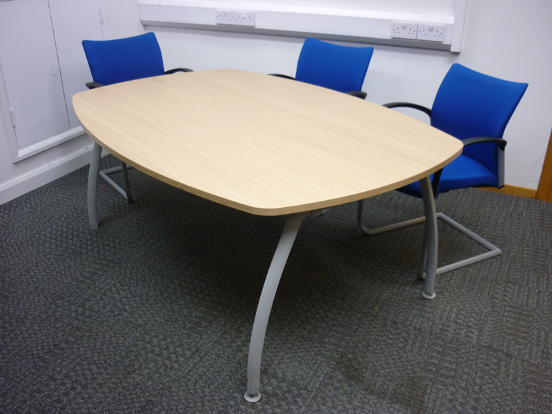 1800x1200mm oak Senator Intrigue conference table (CE)