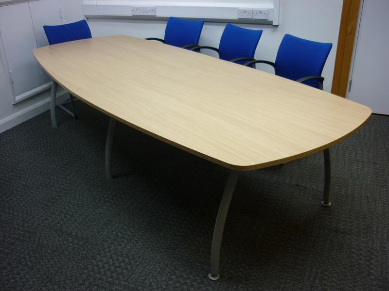 3000x1200mm oak Senator Intrigue Boardroom table (CE)