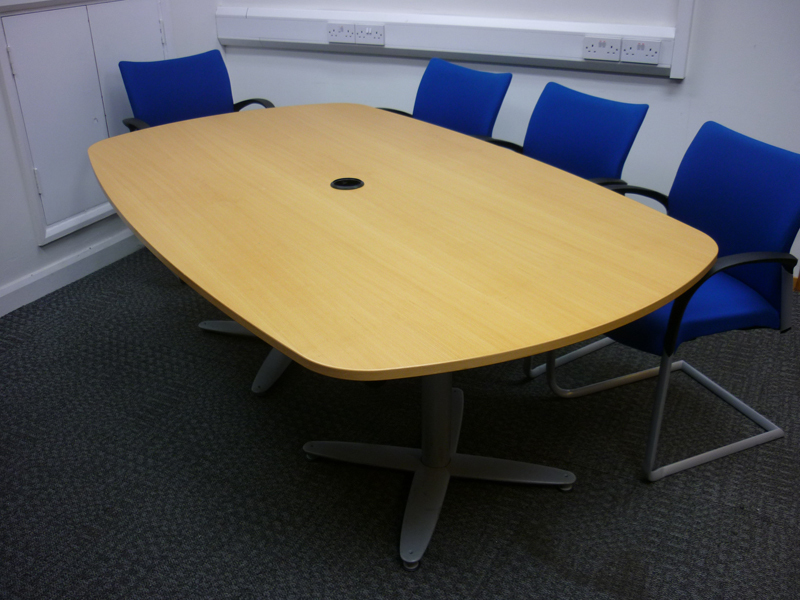 2000x1200mm beech veneer Kinnarps meeting table