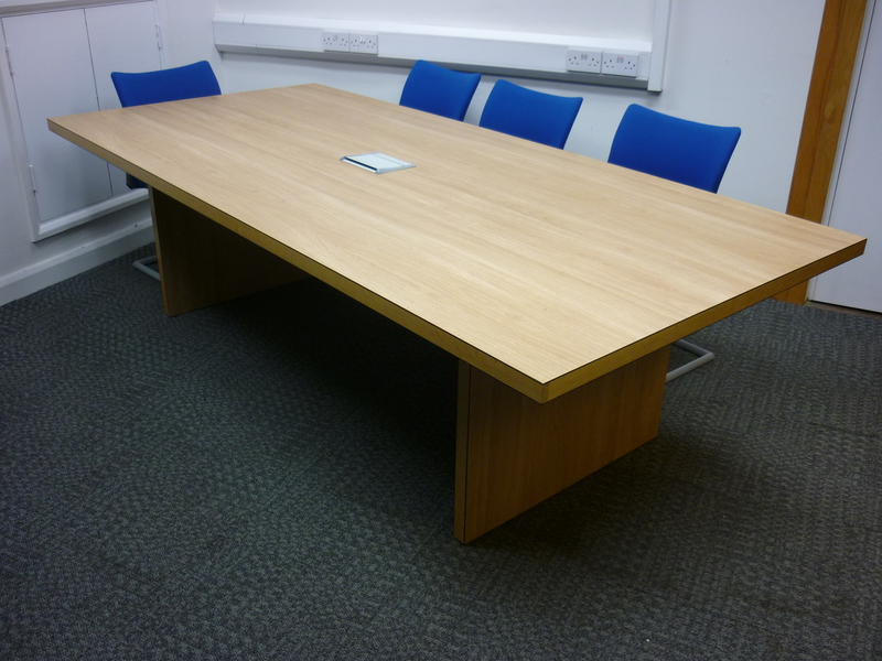 2600 x 1200mm oak boardroom table