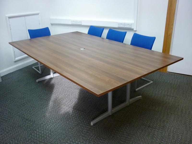 2400x1500mm dark walnut boardroom table