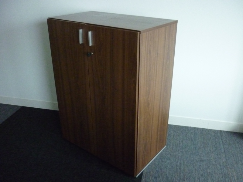 1070mm high walnut Techo double door cupboard