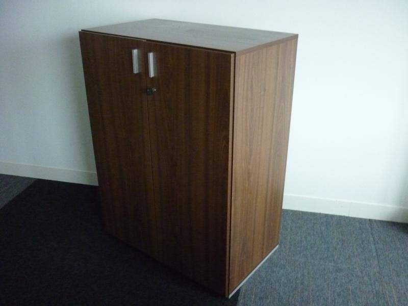 1070mm high walnut Techo double door cupboard