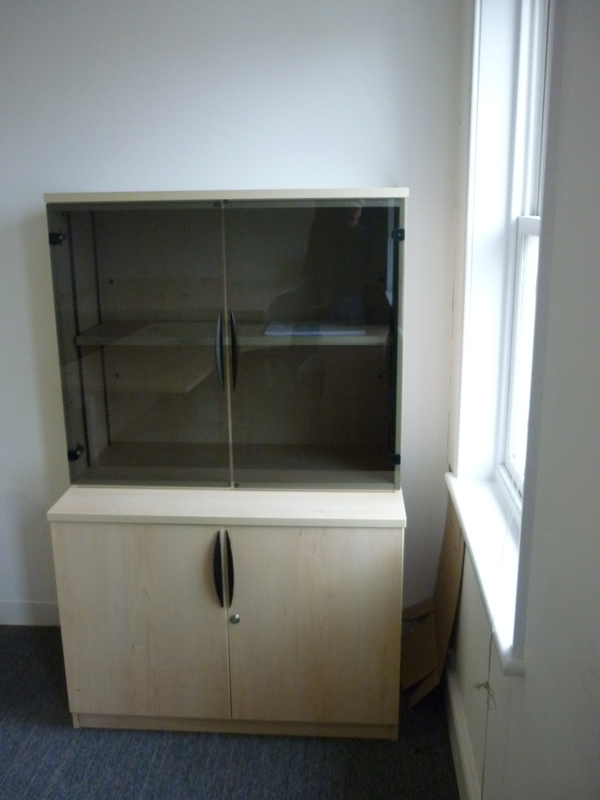 1600mm Senator cupboard and bookcase unit