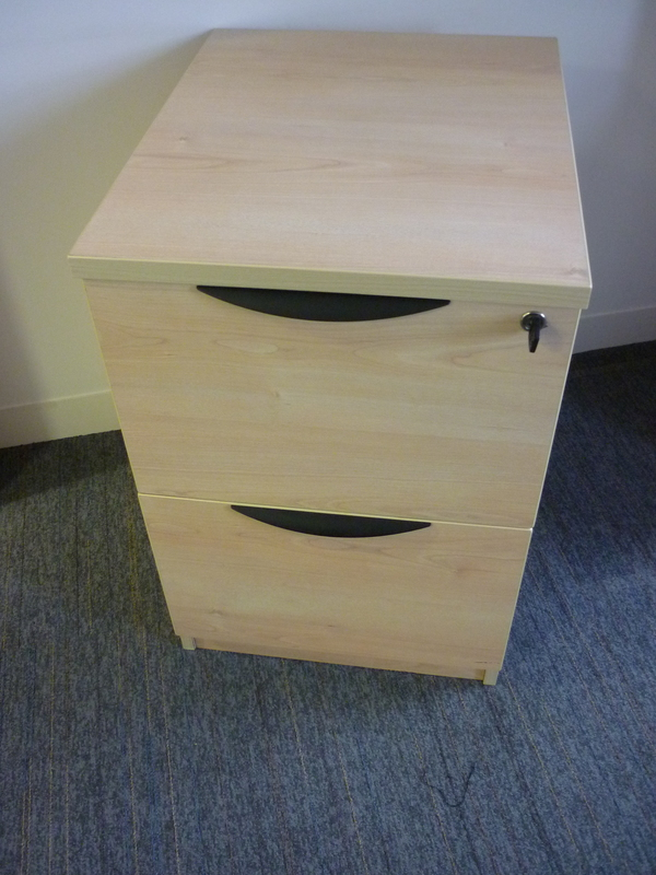 Senator maple 2 drawer filing cabinet
