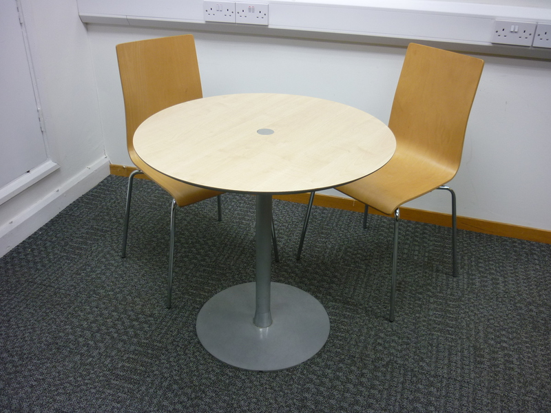 750mm diameter Allermuir maple table
