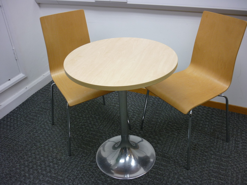 600mm diameter maple circular table