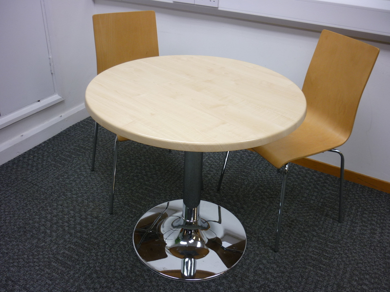 800mm diameter Allermuir maple circular table