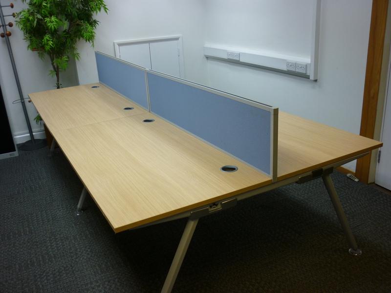 1600w x 800d mm Oak Senator Core bench desks CE price per user
