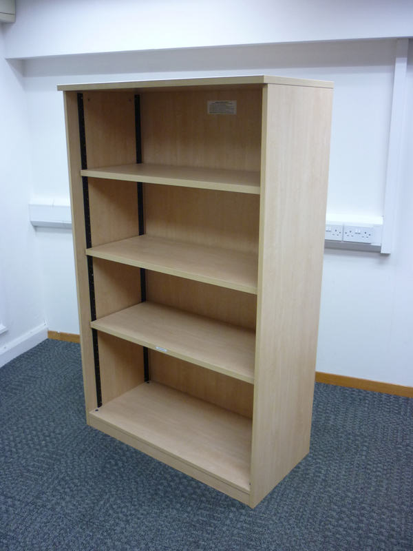 1650mm high Tangent maple open front cupboard