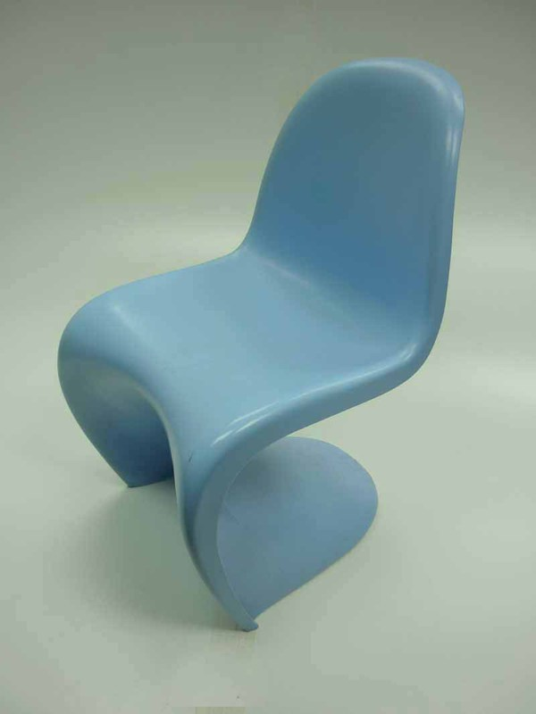 Light blue Panton style chair