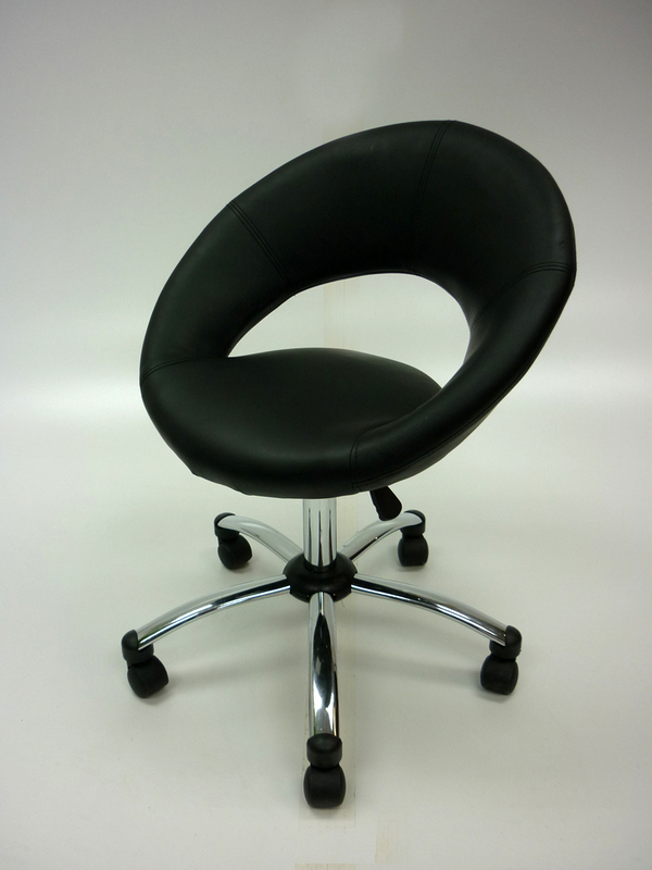 Funky faux leather meeting chairs