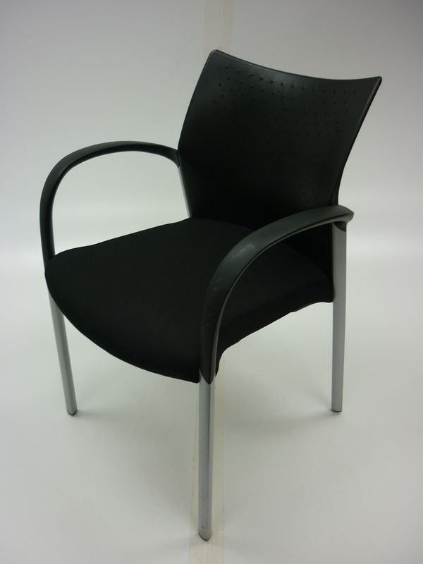 Senator Trillipse black 4 leg meeting chair CE