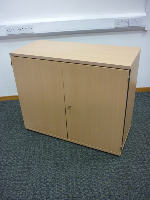 830mm high Bene beech cupboard