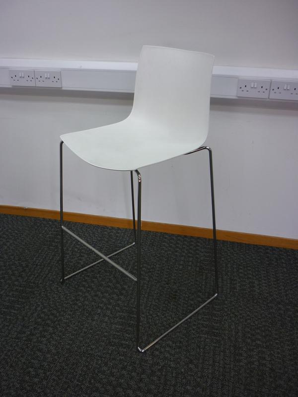 White plastic stools