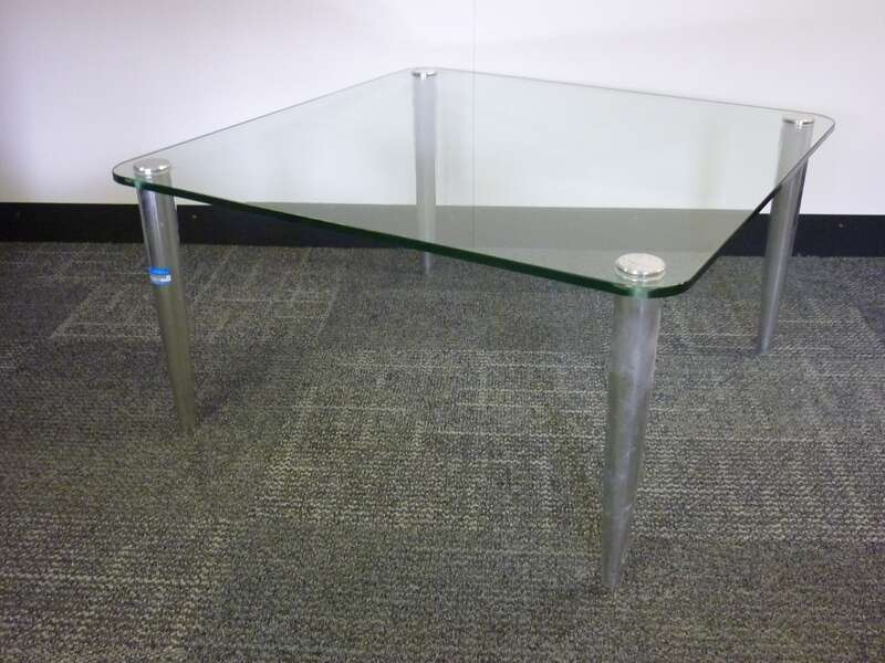 800 mm square glass coffee table CE