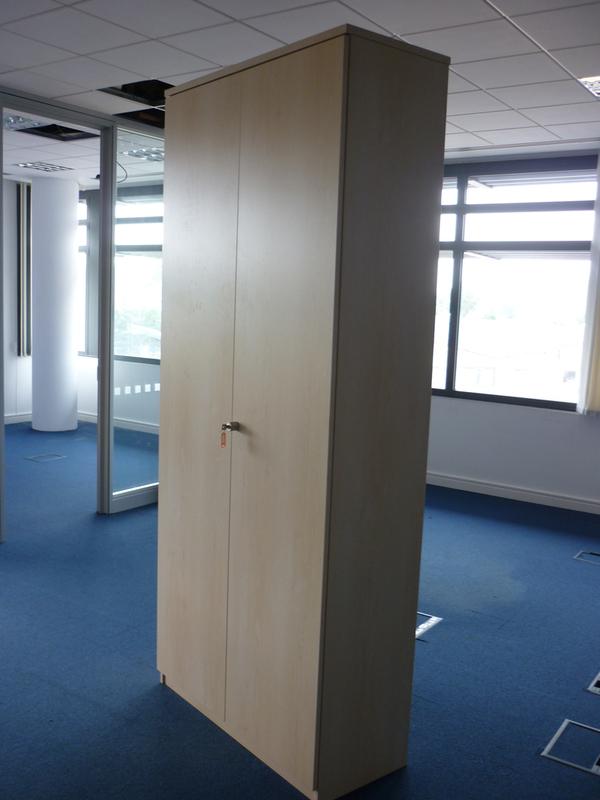 2320mm high FFC maple double door cupboards