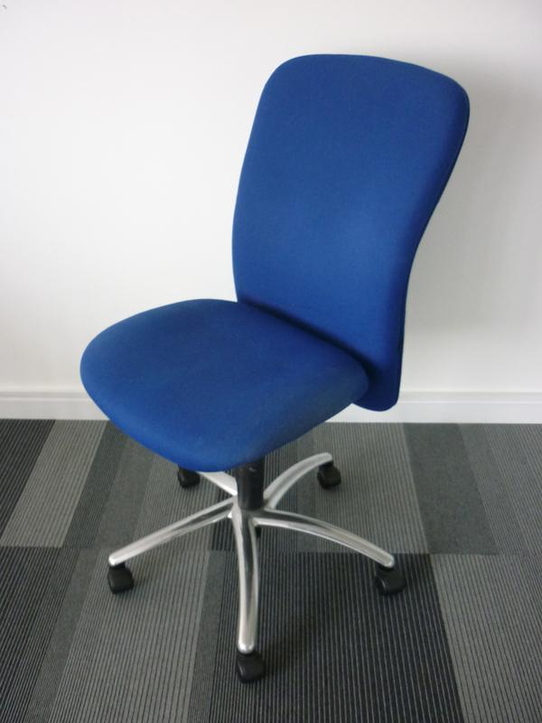 Blue Verco ELX297 task chairs