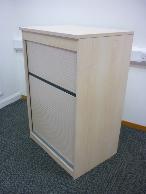 1200h x 800w mm high maple FFC tambour cupboard