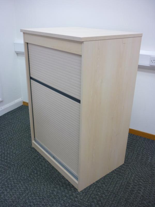 1200mm high maple FFC tambour cupboard