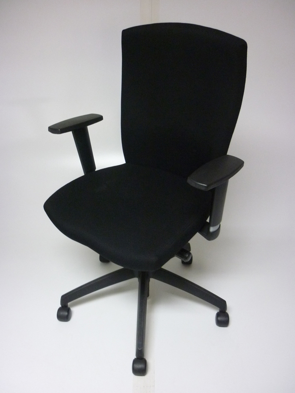 Black Connection Function task chairs