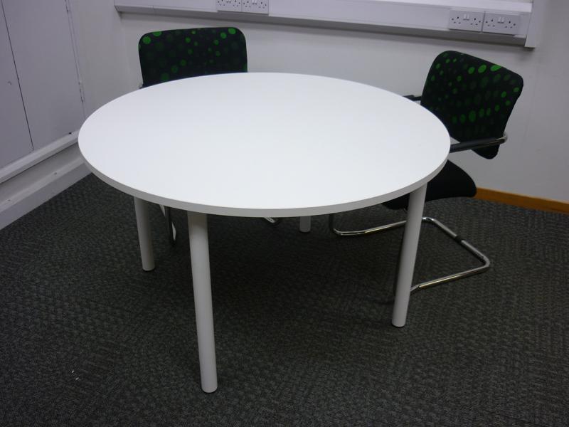 1200mm white circular meeting table