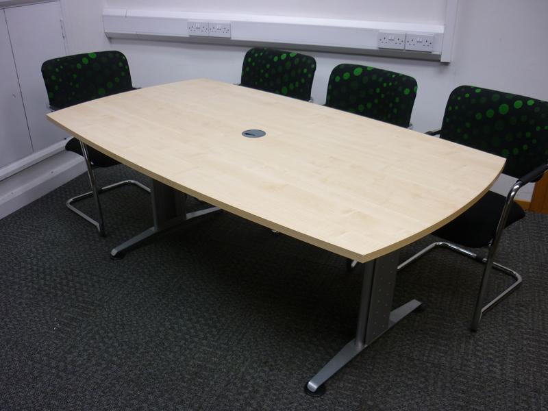 1800w x 1000d mm maple FFC barrel shape table