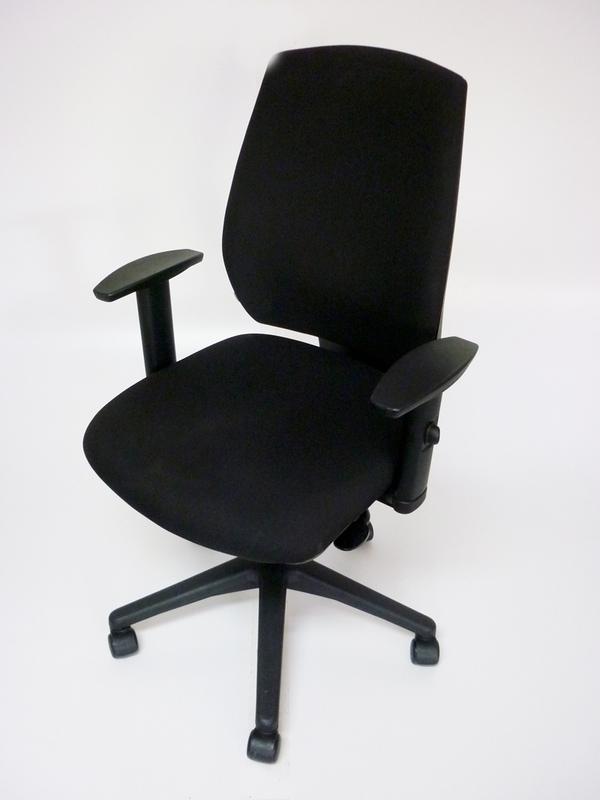 Black GDB Team task chair with adjustable arms
