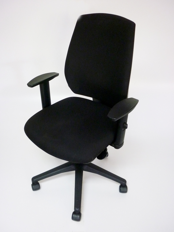 Black GDB Team task chair with adjustable arms
