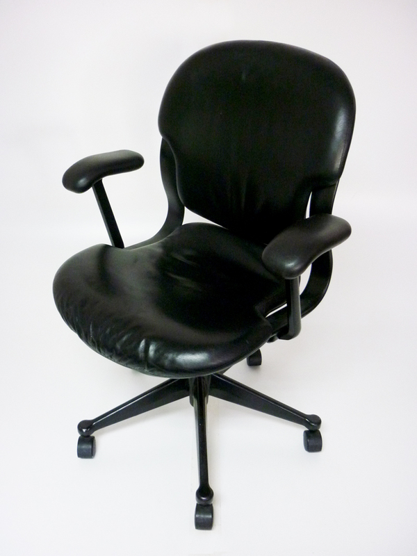 Herman Miller Equa 1 leather chairs