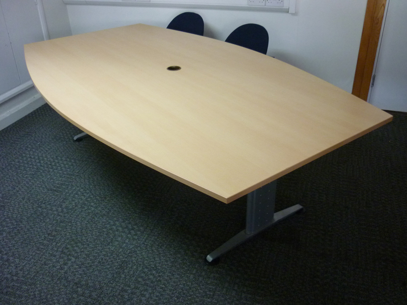 2400mm x 14001000mm FFC Balencia boatshaped meeting table