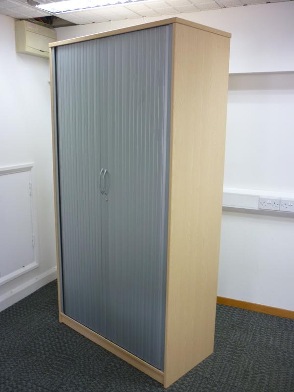 2000mm high Elite ash tambour cupboard