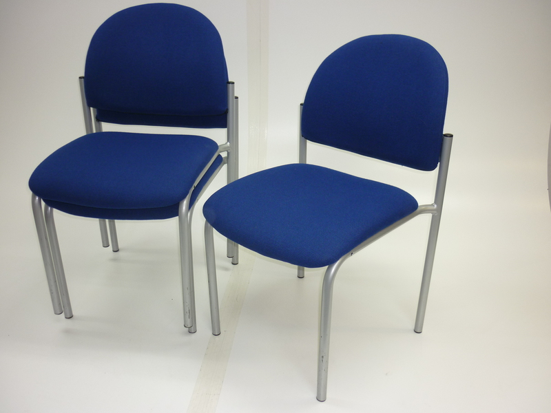 Blue Pledge Arena stacking conference chairs