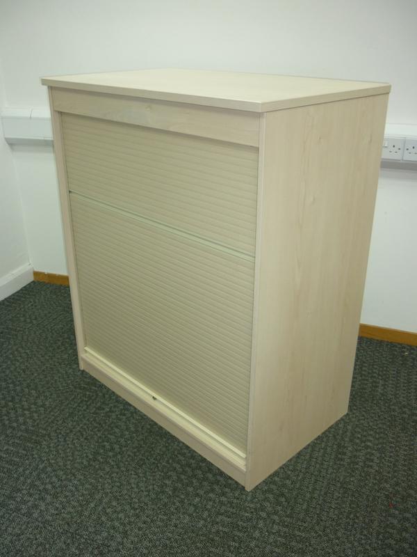 1200h x 1000w mm high FFC maple tambour cupboards